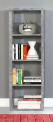 Regal System Mauro in Beton Design grau Standregal 38 x 142 cm Bücherregal Raumteiler