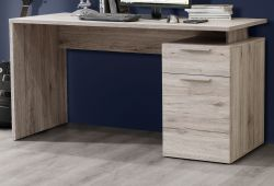Schreibtisch Net in Sandeiche / Eiche Laptoptisch mit Schubkasten für Homeoffice und Büro 140 x 73 cm