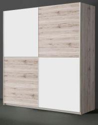 Schwebetürenschrank Winner in Sandeiche / Eiche und weiß Kleiderschrank 2-türig 150 x 191 cm