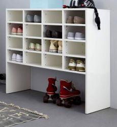 Schuhregal Basix in weiß Garderobe Flurregal 92 x 99 cm Regalschrank stapelbar