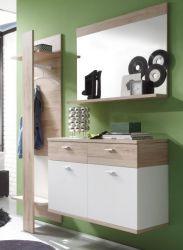 Garderobe Garderobenkombination Campus 3-teilig San Remo Eiche hell weiß Breite 165 cm