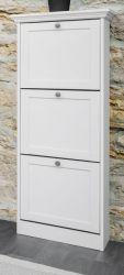 Schuhschrank Landwood in weiß Landhaus Garderobe Schuhkipper 50 x 130 cm