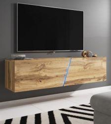 TV-Lowboard Space in Wotan Eiche Dekor TV Unterteil hängend / stehend 160 cm mit LED