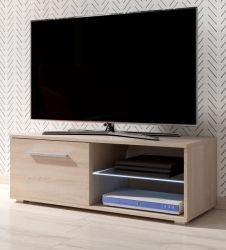 TV-Lowboard Earth in Sonoma Eiche TV-Unterteil 100 x 36 cm inkl. LED Beleuchtung Fernsehtisch