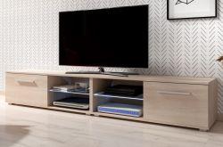 TV-Lowboard Earth in Sonoma Eiche TV-Unterteil 200 x 36 cm Fernsehtisch inkl. LED Beleuchtung