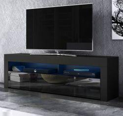 TV-Lowboard Live in Hochglanz schwarz TV-Unterteil 140 x 50 cm inkl. LED Beleuchtung