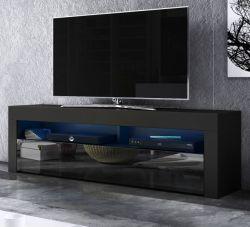 TV-Lowboard Live in schwarz Hochglanz 160 x 50 cm mit LED Beleuchtung
