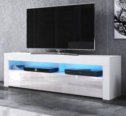 TV-Lowboard Live in weiß Hochglanz 160 x 50 cm mit LED Beleuchtung