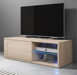 TV-Lowboard Top-B in Sonoma Eiche hell TV-Unterteil 100 x 36 cm inkl. LED Beleuchtung Fernsehtisch