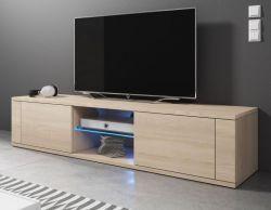 TV-Lowboard Chart in Sonoma Eiche hell TV-Unterteil 140 x 30 cm Fernsehtisch