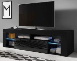 TV Lowboard Mount in schwarz Hochglanz 160 x 50 cm
