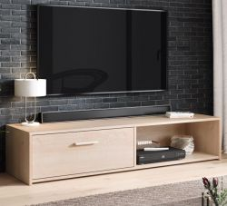 TV-Lowboard Start in Sonoma Eiche TV-Unterteil 140 x 29 cm TV Board