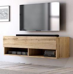 TV-Lowboard Epsom in Wotan Eiche TV-Unterteil hängend 100 x 30 cm Fernsehschrank