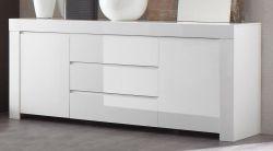 Sideboard Kommode weiss Hochglanz Lack Italien Livorno 190 x 84 cm