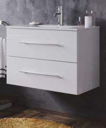Waschbeckenunterschrank Homeline in Hochglanz weiß Waschtisch hängend inkl. Waschbecken 2-teilig 70 x 54 cm