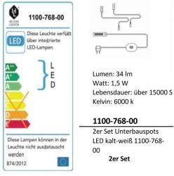 LED-Unterbauspots Komplettset (+19,00 EUR)