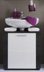 Badmöbel Waschbeckenunterschrank weiß und Esche grau Xpress 60x62 cm