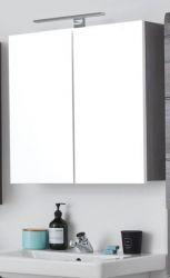 Badezimmer Spiegelschrank Line in Sardegna grau Rauchsilber Badschrank 60 x 67 cm