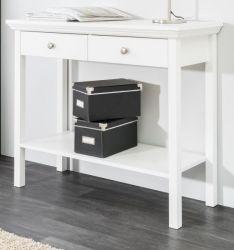 Konsolentisch in weiß Landhaus Konsole für Flur / Diele 90 x 75 cm Tisch Landwood