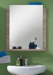 Badezimmer Spiegel Campus in Eiche San Remo hell Badspiegel mit Ablage 60 x 75 cm