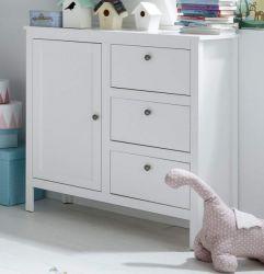 Babyzimmer Kommode Ole in weiß Landhaus Babymöbel Anrichte 96 x 98 cm
