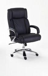 Bürostuhl Real Comfort in Kunstleder schwarz mit Wippmechanik Chefsessel bis 220 kg