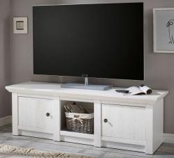 TV-Lowboard Hooge in Pinie weiß Landhaus TV-Unterteil 152 x 51 cm