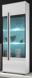 Vitrine Design-D in weiß Hochglanz Vitrinenschrank 60 x 200 cm