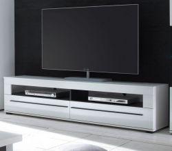 TV-Lowboard Design-D in Hochglanz weiß TV-Unterteil 180 x 47 cm