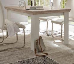 Esstisch Rovola in Pinie weiß / Oslo Pinie Landhaus Küchentisch 160 x 90 cm
