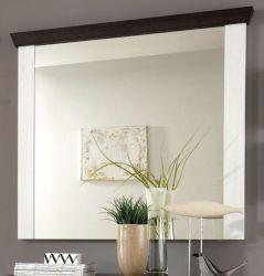 Garderobenspiegel Corela in Pinie weiß und Wenge Landhaus Spiegel 107 x 110 cm