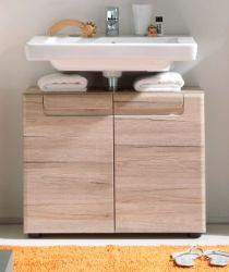 Badmöbel Waschbeckenunterschrank Malea Eiche San Remo hell tiefgezogen