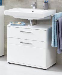 Badezimmer Waschbeckenunterschrank Monte in weiß Hochglanz Badschrank 60 x 58 cm
