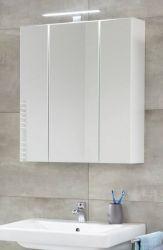 Badezimmer Spiegelschrank Monte in weiß Badschrank 3-türig 60 x 74 cm