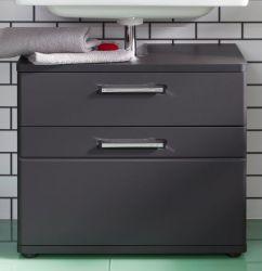 Badezimmer Waschbeckenunterschrank Monte in grau matt Badschrank 60 x 58 cm