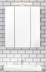 Badezimmer Spiegelschrank Monte in grau Badschrank 3-türig 60 x 74 cm