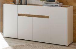 Sideboard Center in weiß und Wotan Eiche Kommode 170 x 87 cm