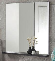 Badezimmer Spiegel Design-D in schwarz Badspiegel mit Ablage 80 x 85 cm