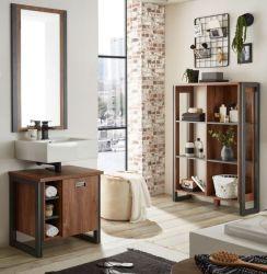 Badmöbel Set 3-teilig Auburn in Eiche Stirling und Matera grau Badkombination 171 x 205 cm
