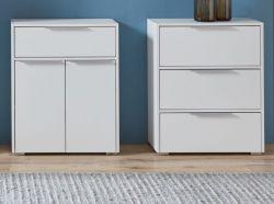 Badezimmer 2 x Kommode in weiß Badmöbel Set 2-teilig je Unterschrank 61 x 76 cm