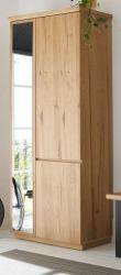 Garderobenschrank Yorkshire in Crack Eiche Garderobe und Schuhschrank 75 x 195 cm