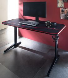Gamingtisch DX-Racer in schwarz Computertisch Gaming Desk 140 x 66 cm