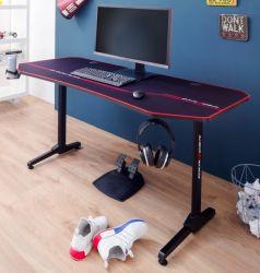 Gamingtisch DX-Racer in schwarz Computertisch Gaming Desk 160 x 75 cm
