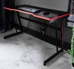 Gamingtisch mcRacing in schwarz und rot Computertisch 120 x 60 cm Gaming Desk