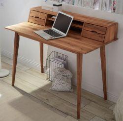 Schreibtisch Melbourne in Asteiche massiv geölt Laptoptisch für Homeoffice 110 x 58 cm