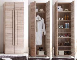 Garderobenschrank und Schuhschrank Malea Eiche San Remo hell 60 x 191 cm