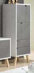 Kommode Edos in grau und weiß Highboard 57 x 140 cm