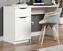 Schreibtisch Basix in weiß Laptoptisch für Homeoffice und Büro 120 x 50 cm