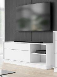 TV-Lowboard Stream in weiß TV Unterteil 136 x 52 cm