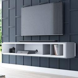 TV-Lowboard Amari in anthrazit und weiß TV-Unterteil hängend 153 x 25 cm